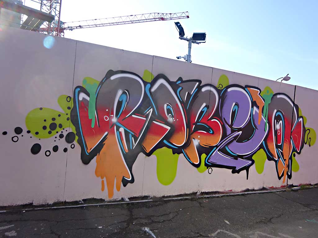 Graffiti bei der Hall of Fame am Ratswegkreisel in Frankfurt am Main