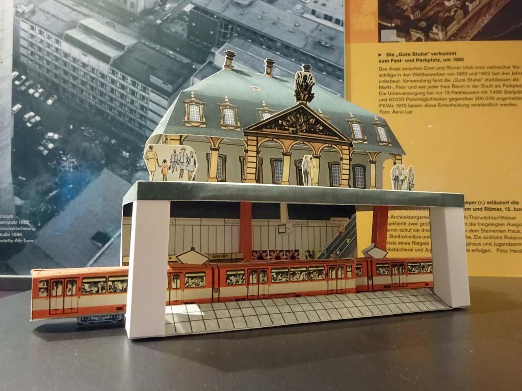 Frankfurt in den 1960er Jahren - Hauptwache Papiermodell