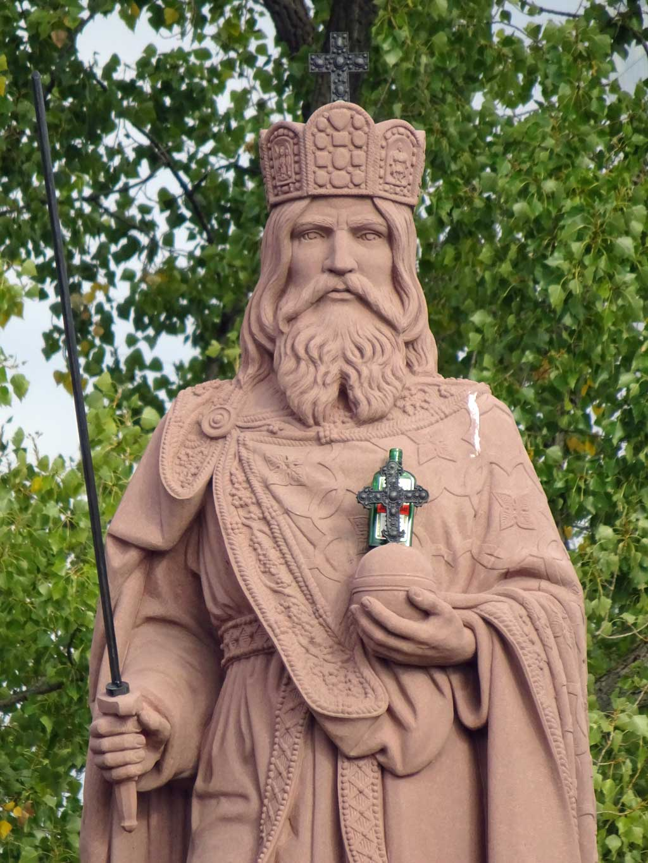 Karl der Große-Statue in Frankfurt