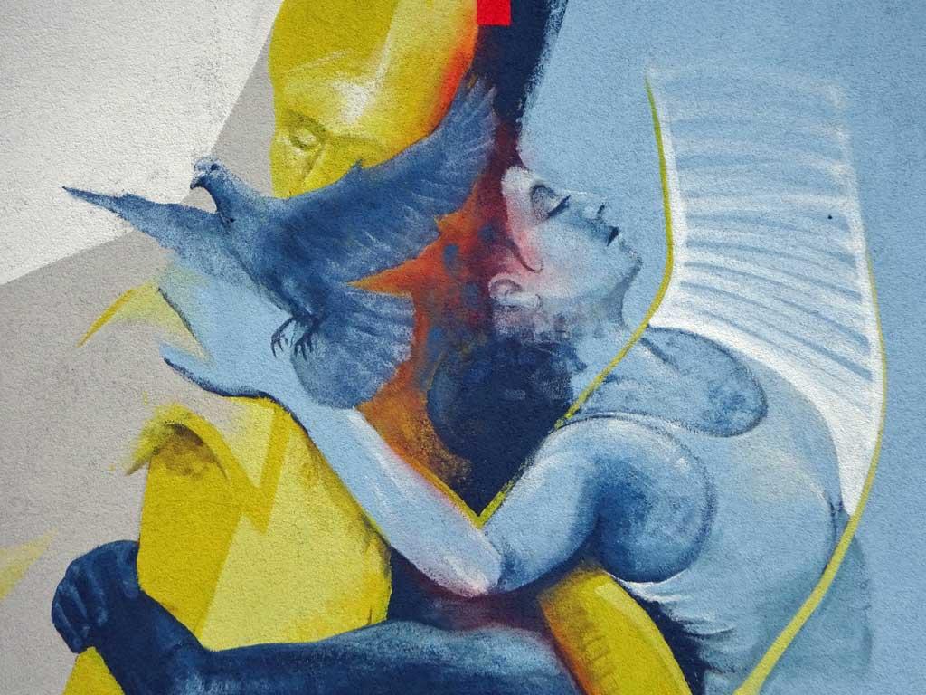 Detailaufnahme des Murals von Guido Zimmermann
