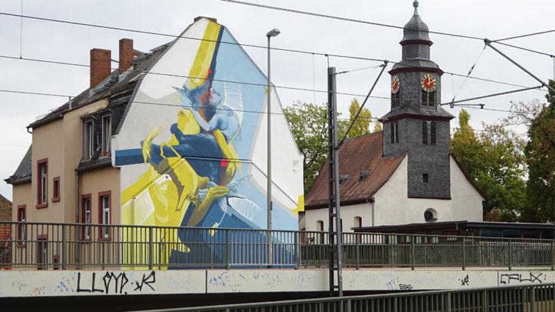 Mural von Guido Zimmermann in Frankfurt-Eschersheim