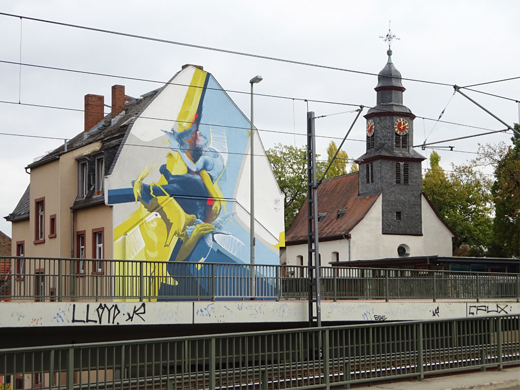 Mural von Guido Zimmermann in Frankfurt-Eschersheim
