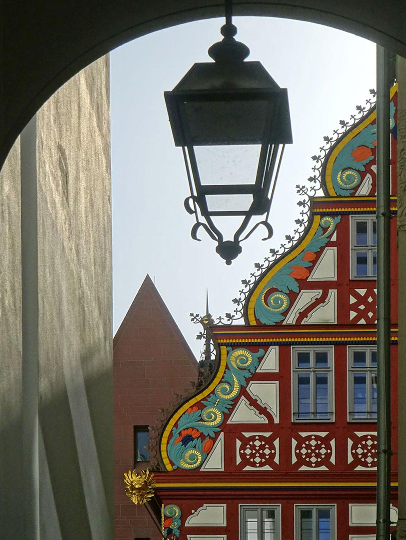 Goldene Waage in der Neuen Altstadt Frankfurts
