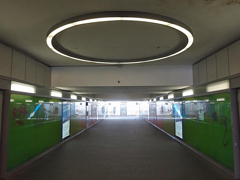 Umgestalteter Zugang am Ostbahnhof in Frankfurt