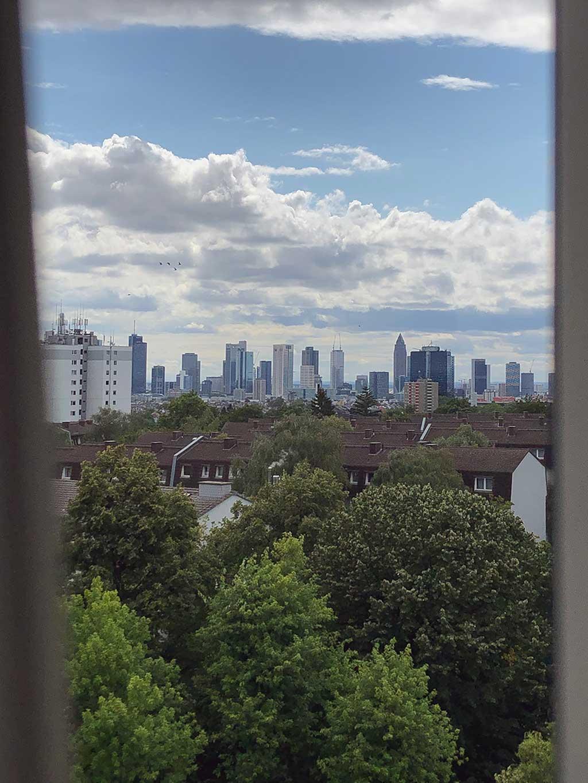 Blick auf die Skyline Frankfurt