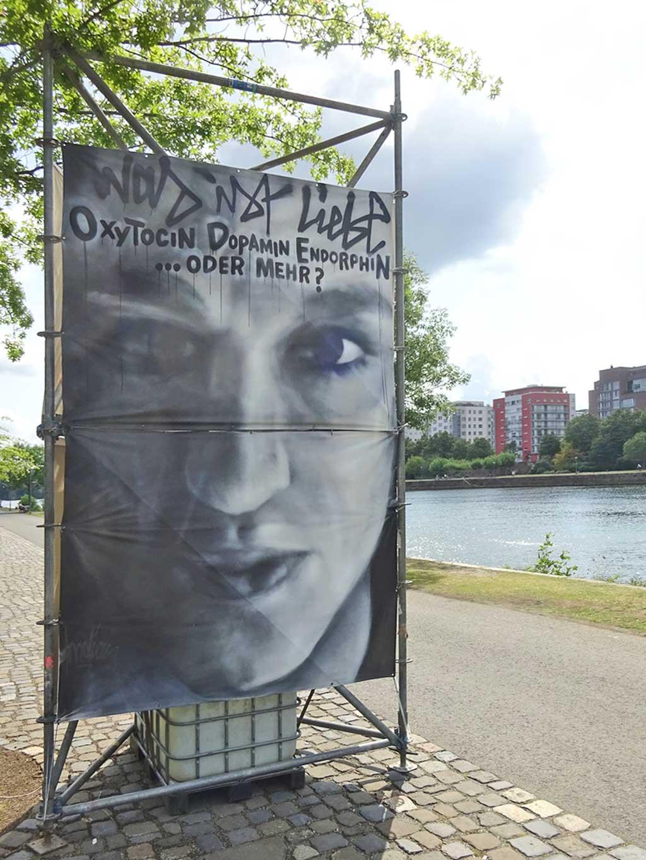 Streetart rund um die Sommerwerft in Frankfurt 2019