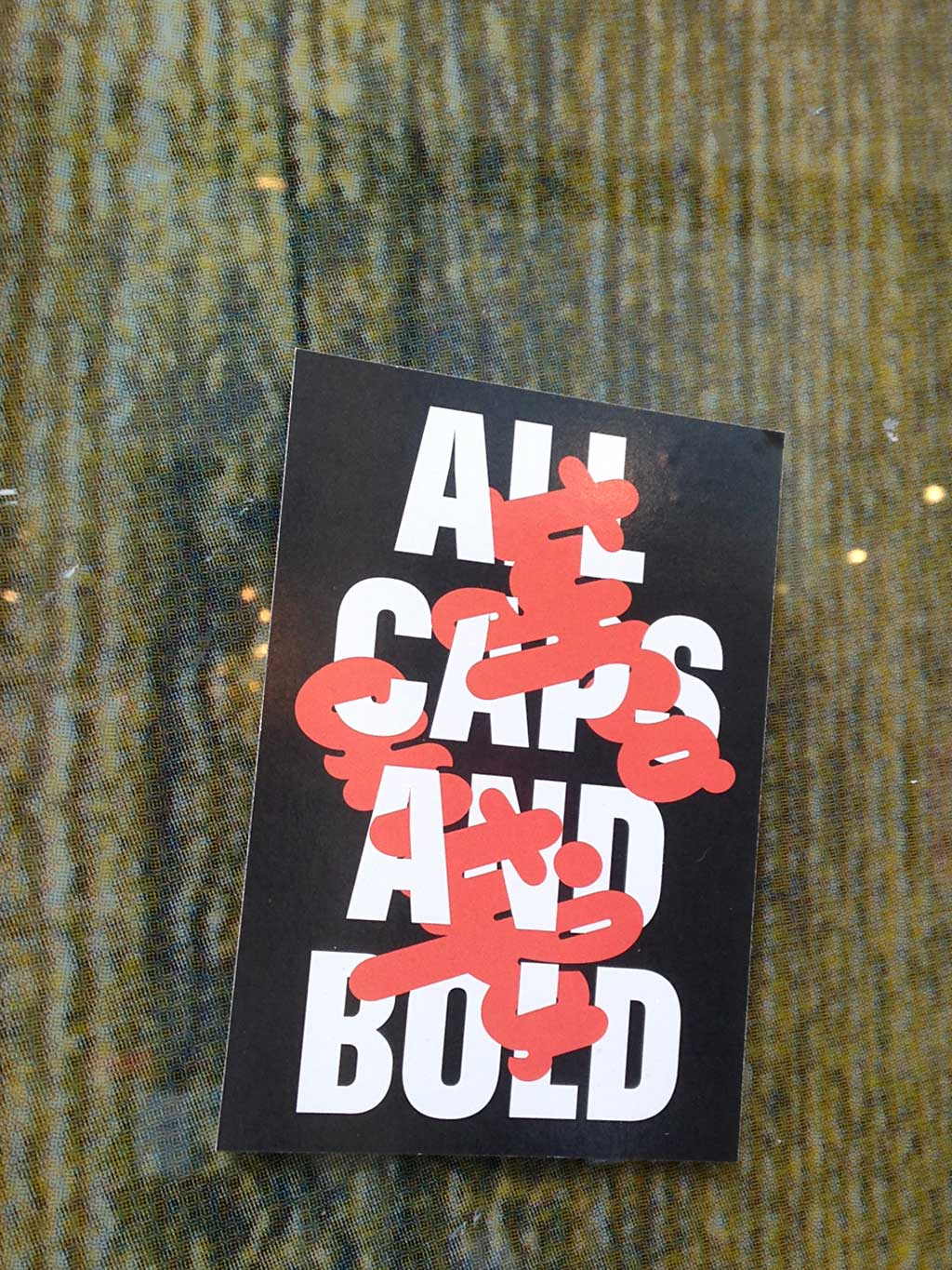 Frankfurt Sticker - All Caps And Bold