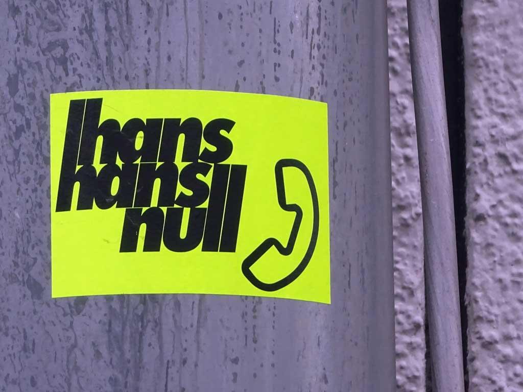 Frankfurt Sticker - Hans Hans Null