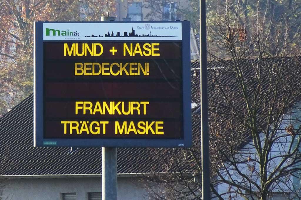 Mund + Nase bedecken! Frankfurt trägt Maske