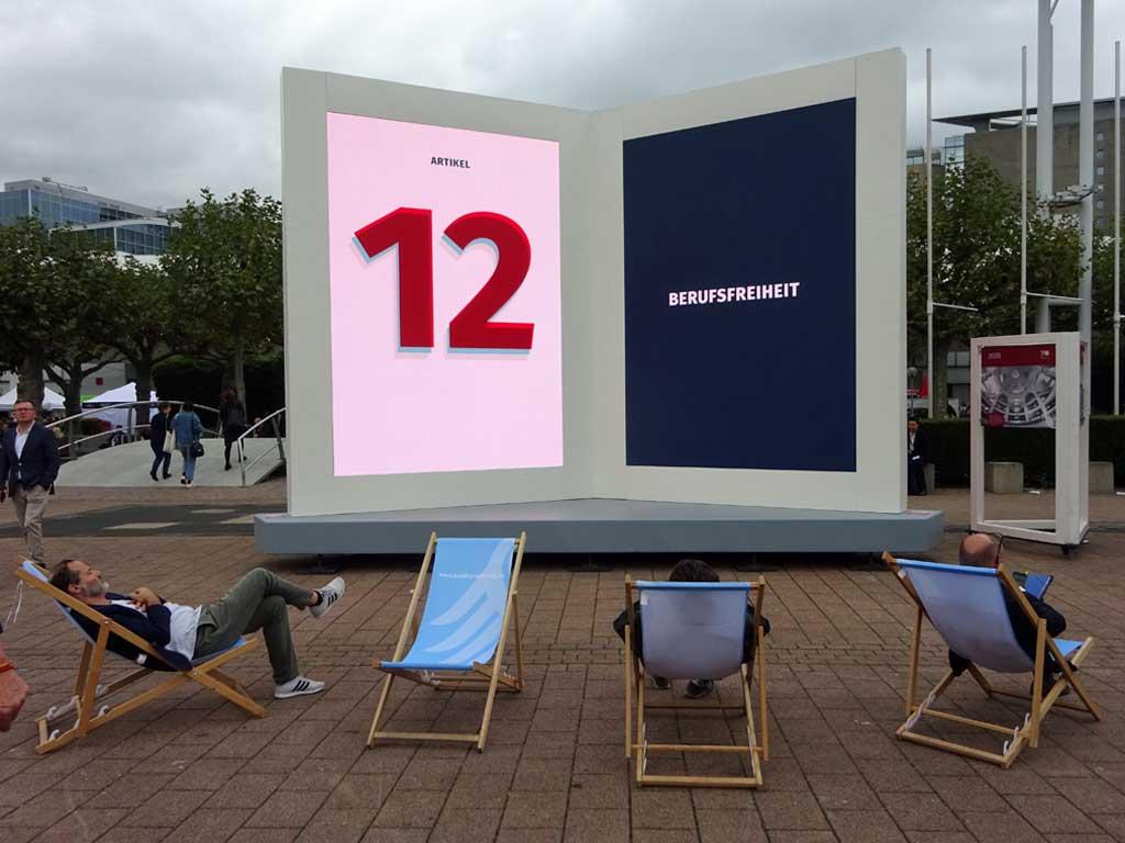 Frankfurter Buchmesse 2019 - 70 Jahre Grundgesetz - Berufsfreiheit