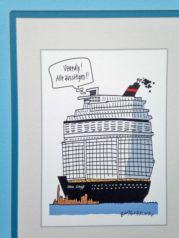 Frankfurter Buchmesse 2019 - Deutscher Cartoonpreis Beitrag von Butschkow