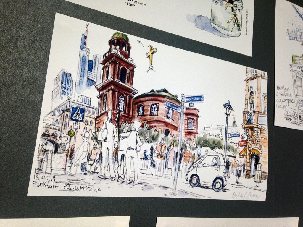 Frankfurter Buchmesse 2019 - Urban Sketching Frankfurt Paulskirche