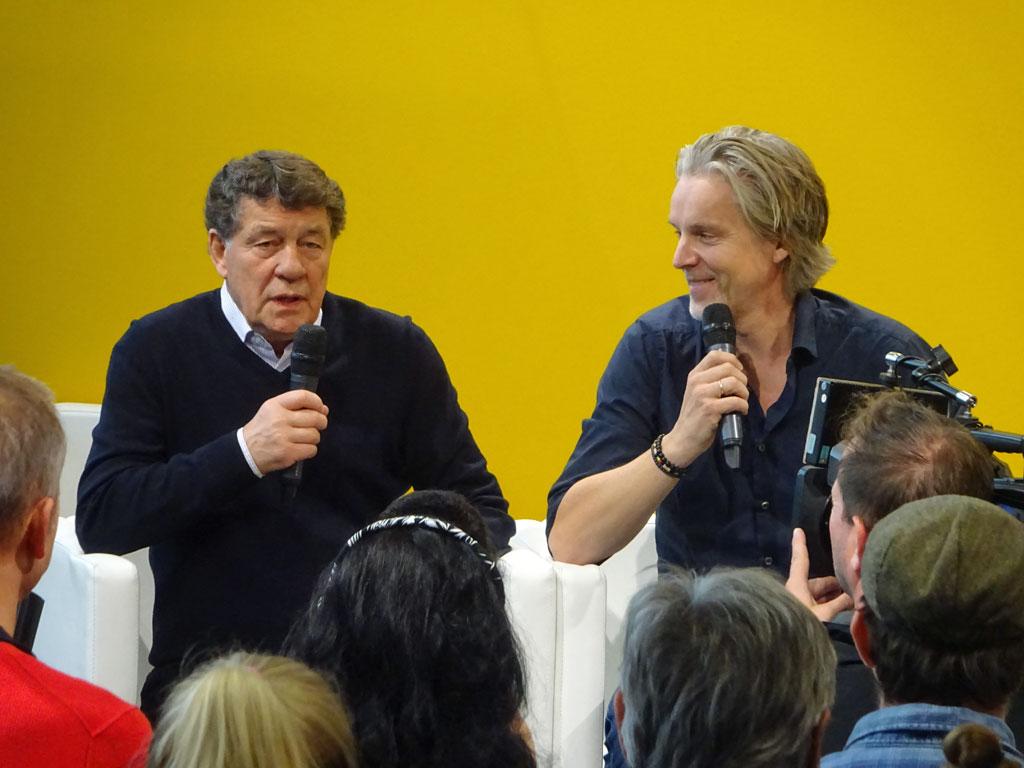 Frankfurter Buchmesse 2019 - Jan Arge Fjoertoft und Otto Rehagel bei Litcam
