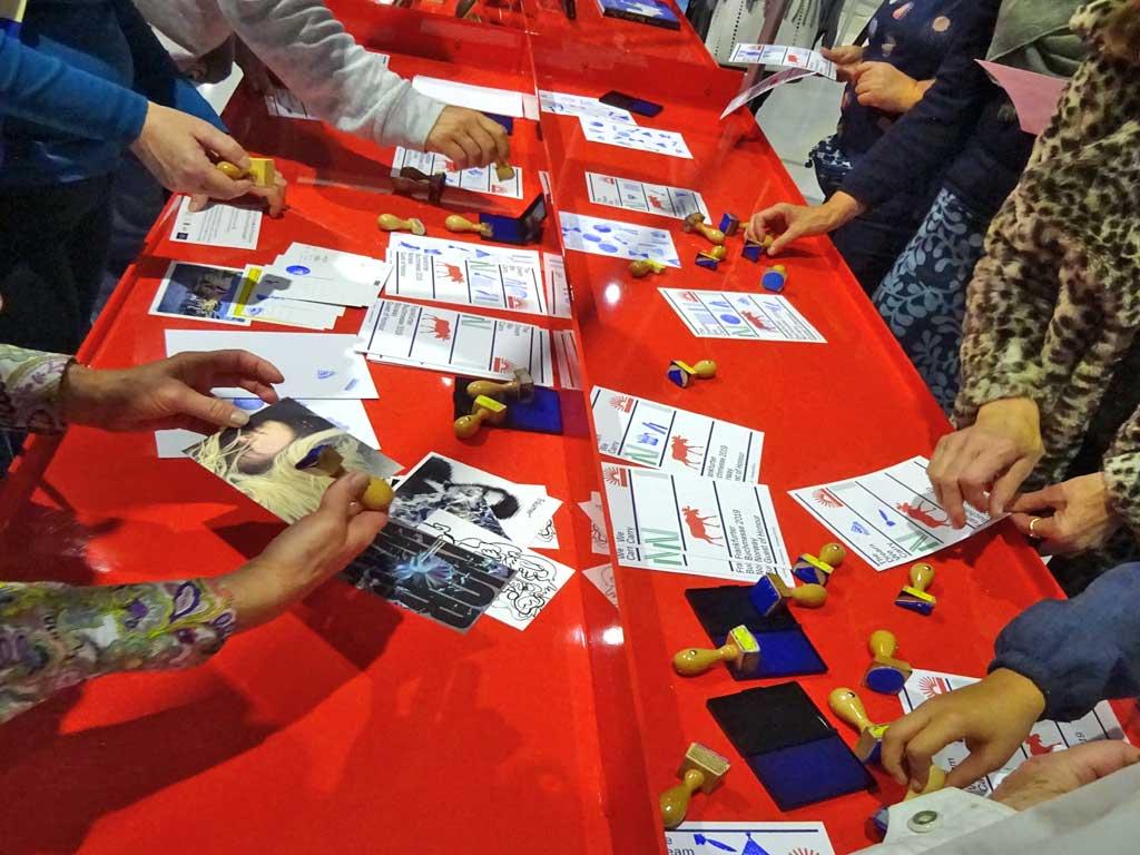Frankfurter Buchmesse 2019 - Stempeltisch im Ehrengast Pavillon