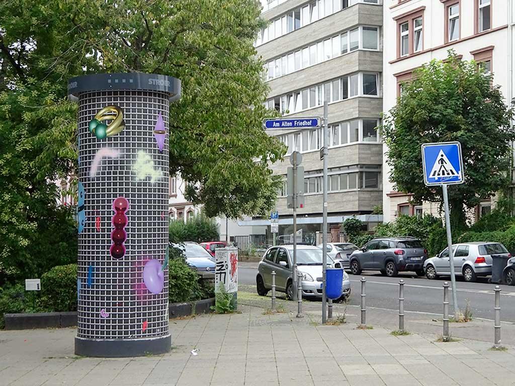 Frankfurter Kunstsäule - Anna Nero - Erect