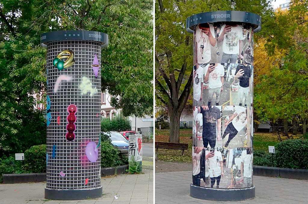 Frankfurter KunstSäule - Anna Nero und Xue Liu