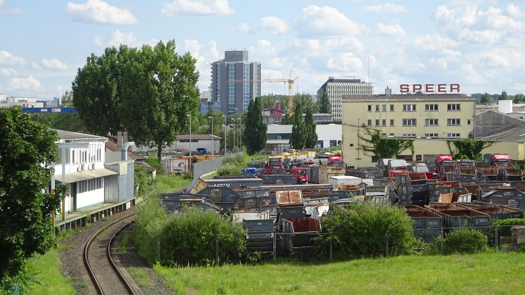 Panormablick Frankfurter Osthafen / Hafengebiet