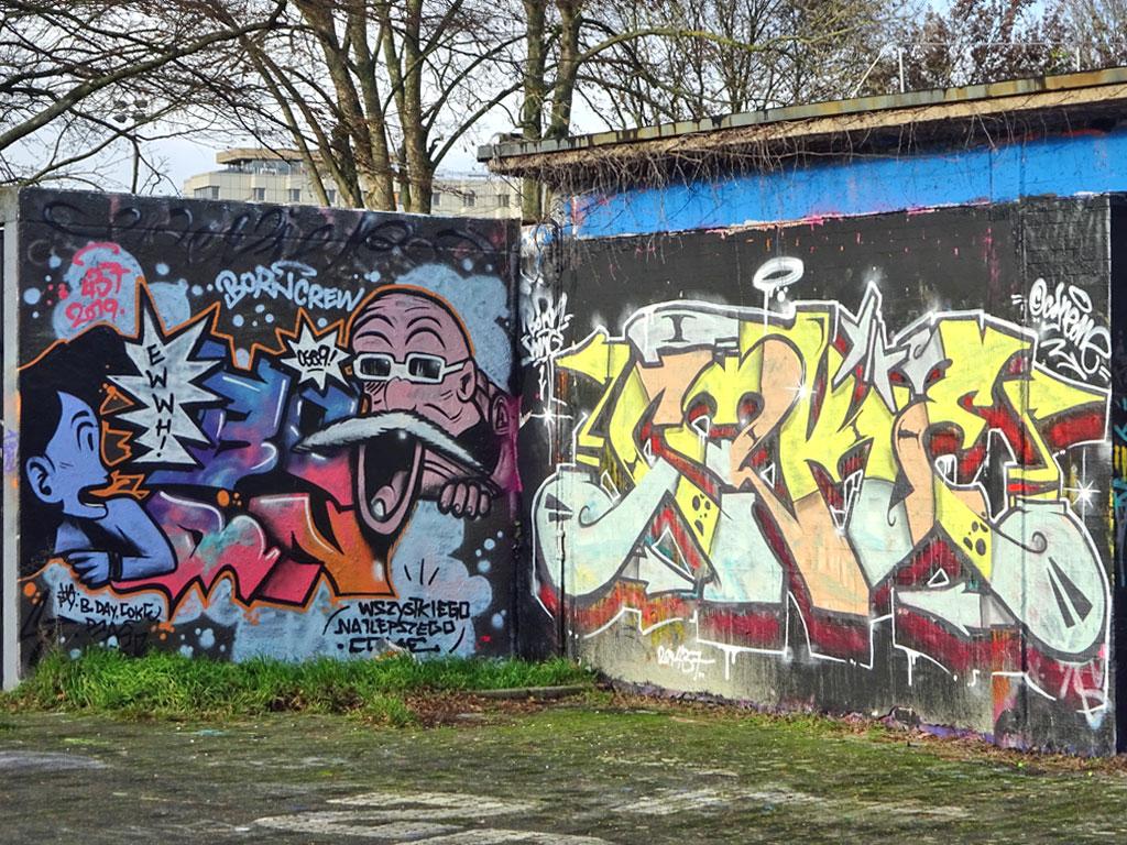 Graffiti am Freibad Bad Vilbel