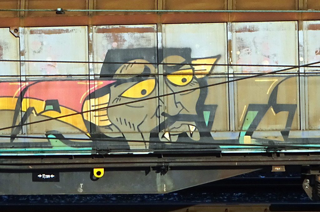 Freight Train Graffiti Frankfurt