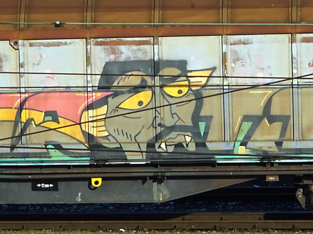 Freight Train Graffiti Frankfurt