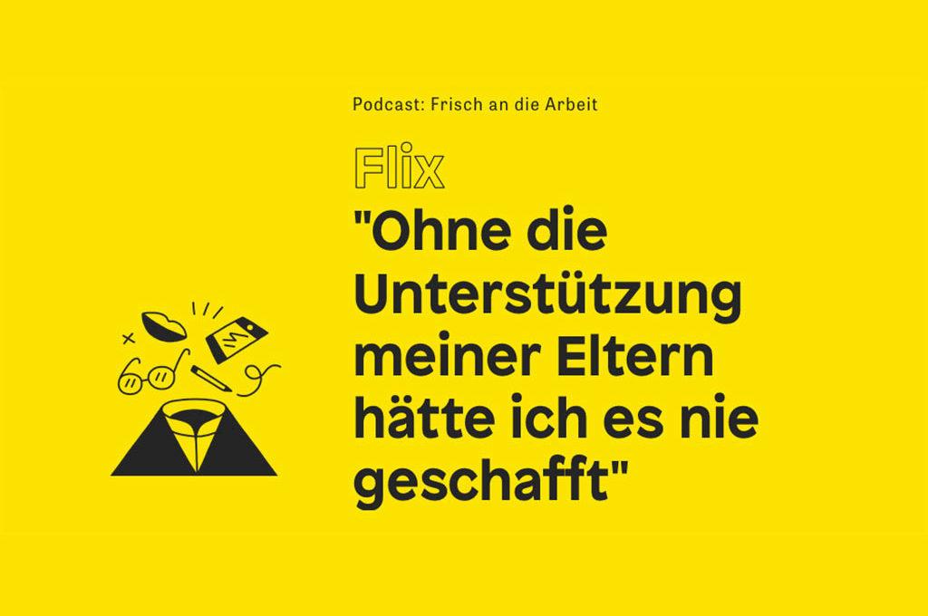 """Podcast """"Frisch an die Arbeit"""" mit Comiczeichner Flix"""