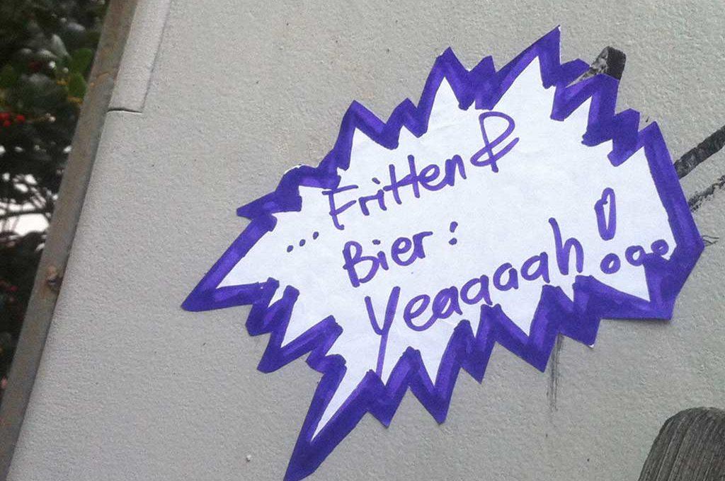 Aufkleber Fritten & Bier: Yeah!
