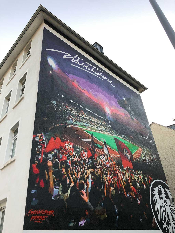 Für immer Waldstadion - Mural in Frankfurt am Main