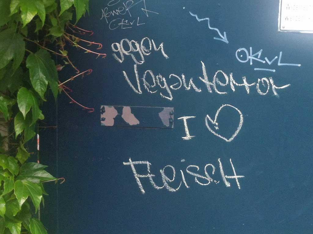 Gegen Veganterror I love Fleisch