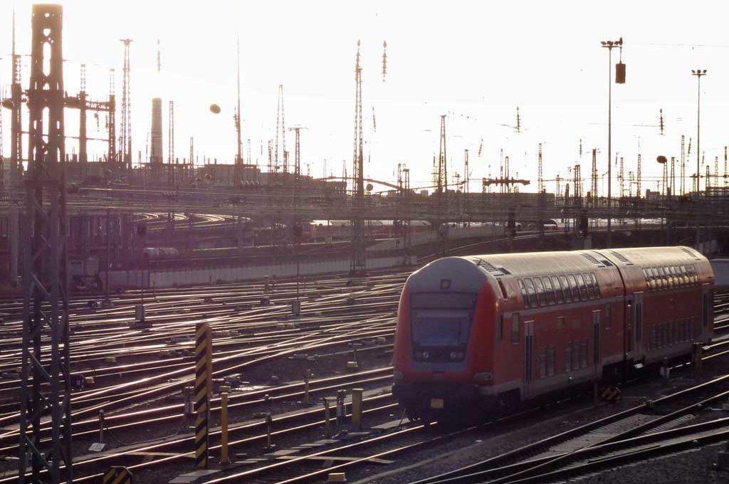 Gleisfeld am Hauptbahnnhof in Frankfurt