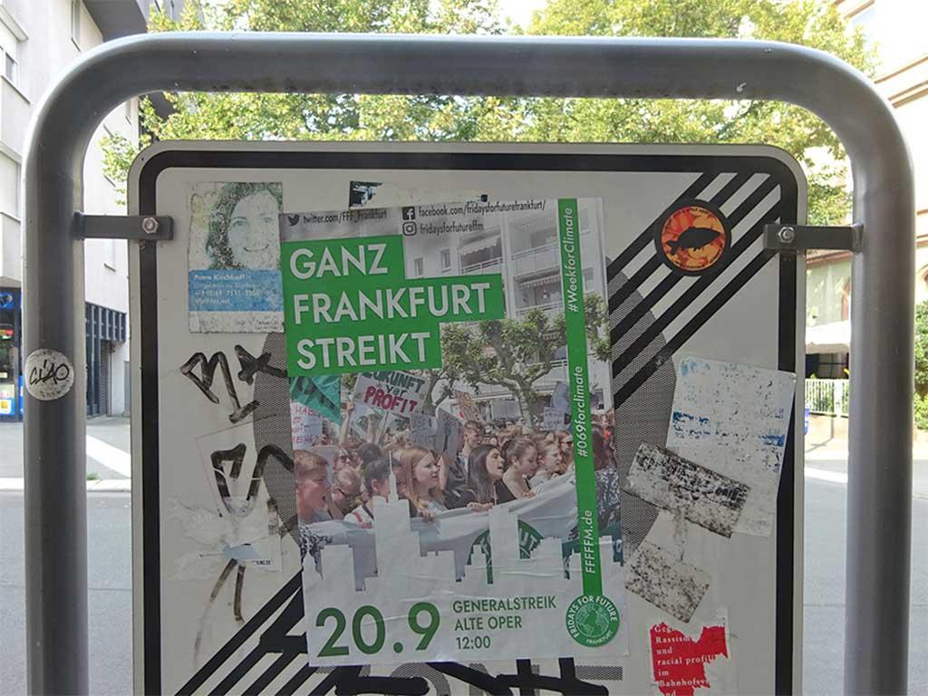 Ganz Frankfurt streikt - Generalstreik 20.09. Alte Oper