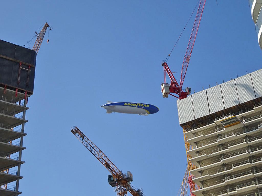 Goodyear Zeppelin in Frankfurt