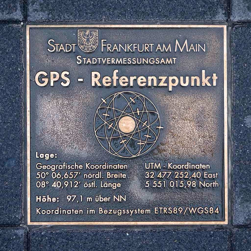 GPS-Referenzpunkt in Frankfurt am Main