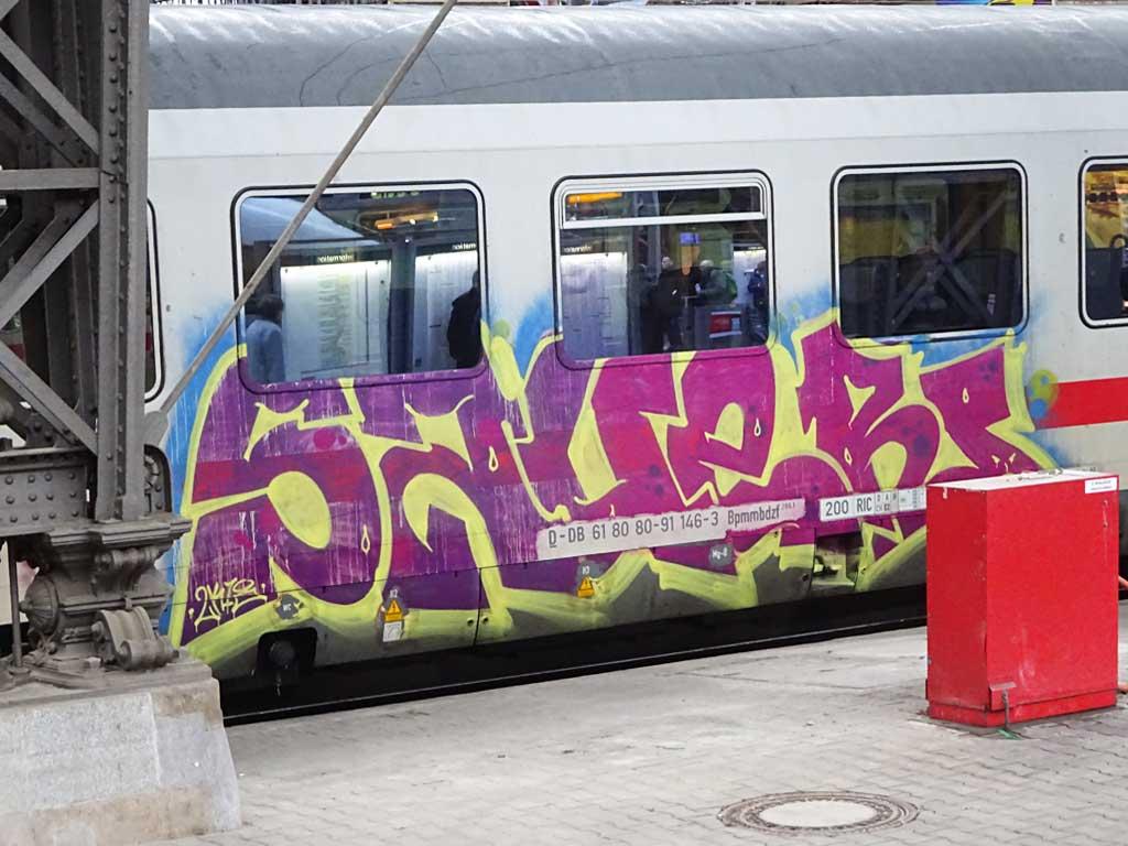 Graffiti on trains