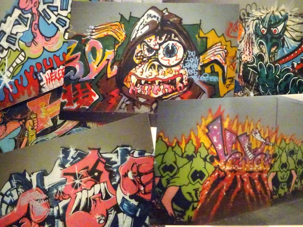 Fotos von Graffiti in Frankfurt im Jahr 1990