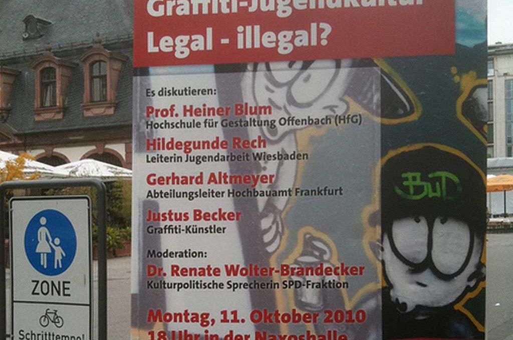 Graffiti-Jugenkultur Legal - illegal?