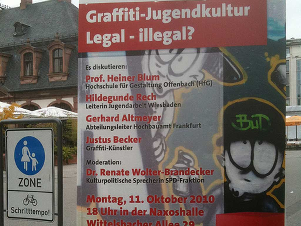 Graffiti-Jugenkultur Legal - illegal?