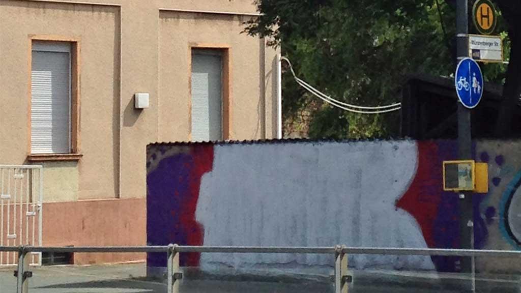 Nicht fertig gemaltes Graffiti