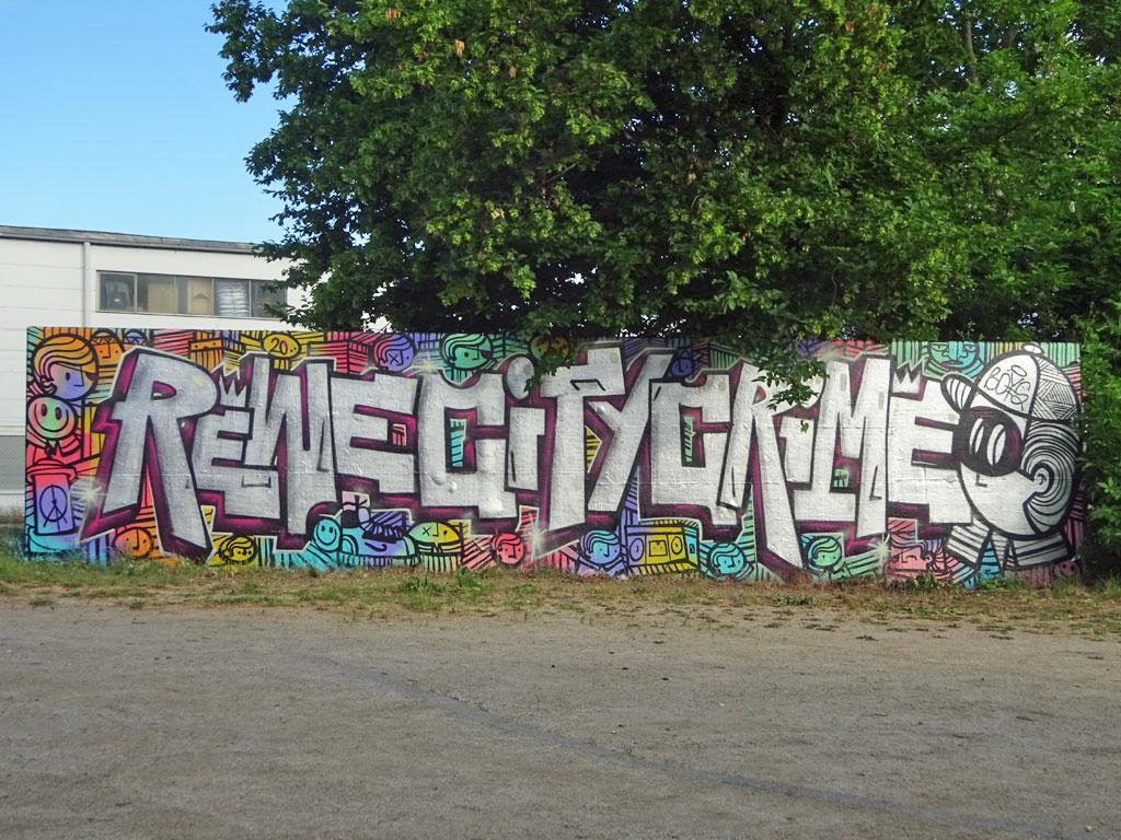 Graffitikunst beim Jugendhaus am Bügel