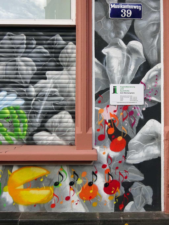 Graffitikunst in Frankfurt von Honsar