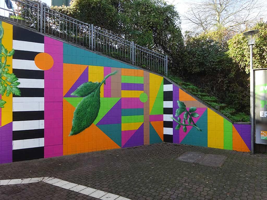 Grüne Soße Mural Art in Frankfurt Mühlberg