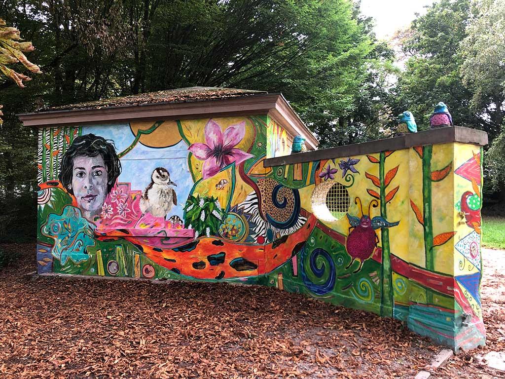 Wandkunst im Günthersburgpark