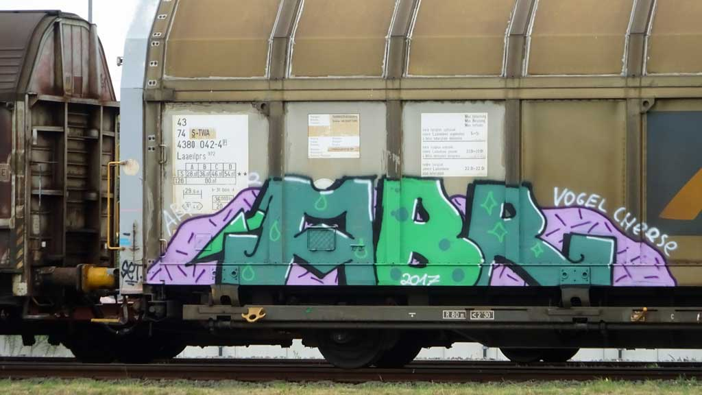 Graffiti auf Güterzugen
