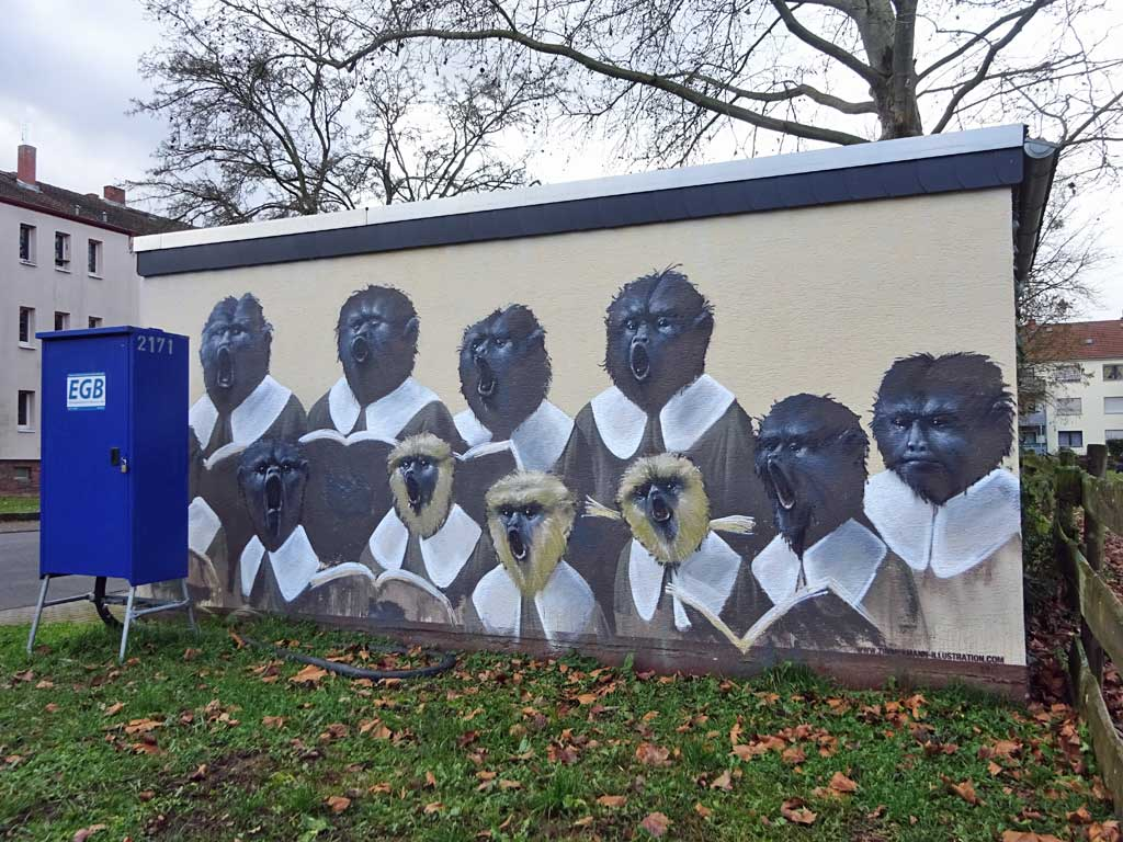 Streetart von Guido Zimmermann in Bad Vilbel
