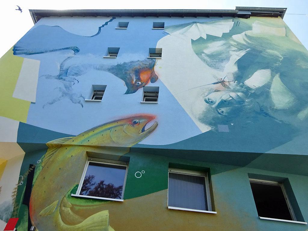 Mural Art von Guido Zimmermann in Frankfurt-Heddernheim