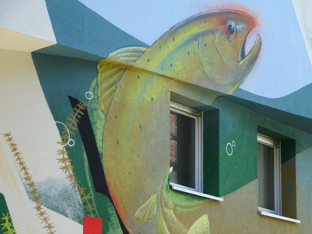 Streetart von Guido Zimmermann in Frankfurt-Heddernheim