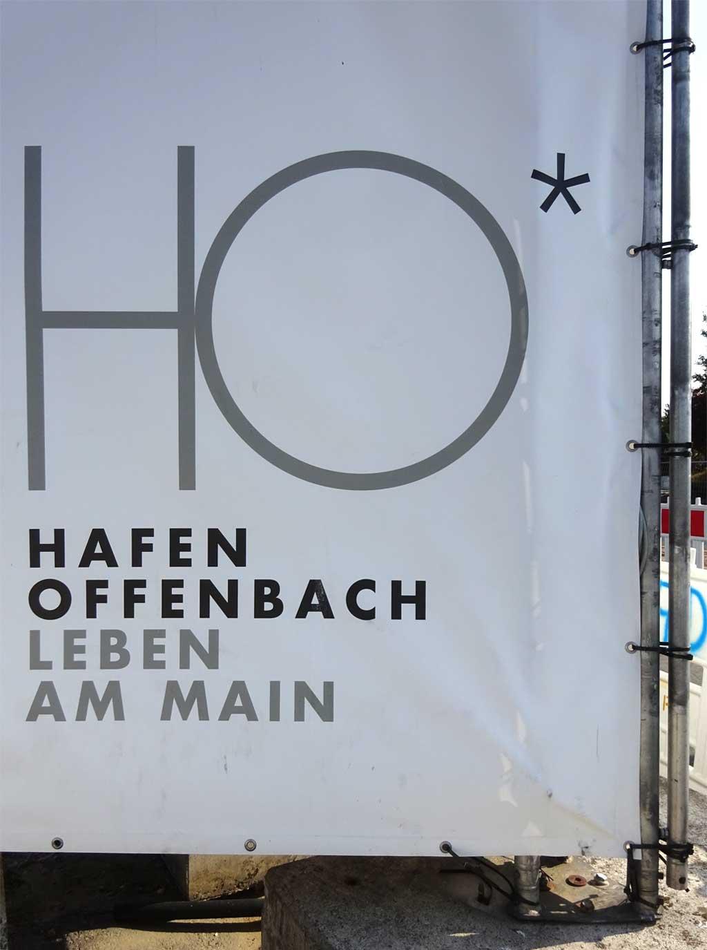 Typografie in Offenbach - Hafen Offenbach