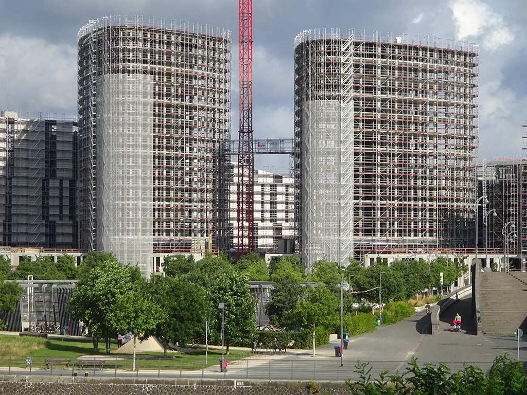 Hafenparkquartier-Baustelle in Frankfurt