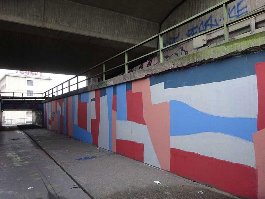 Graffiti an der Hall of Fame am Ratswegkreisel in Frankfurt
