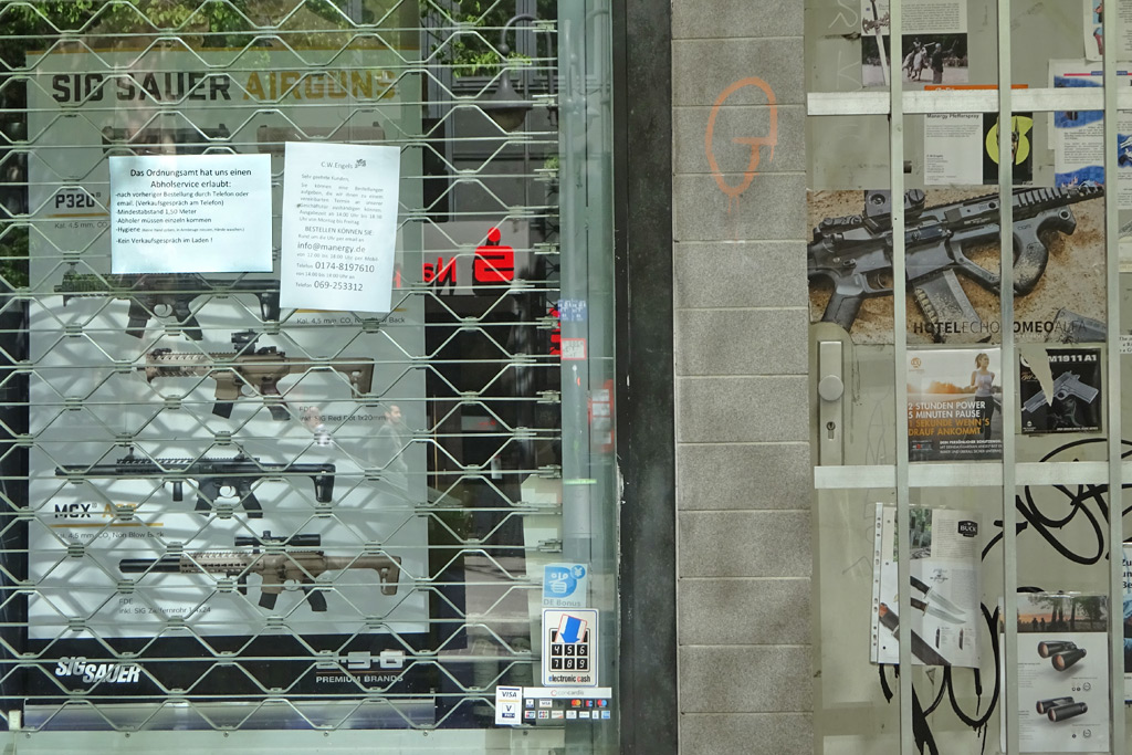 Tel.- und Abholservice für Waffen im Frankfurter Bahnhofsviertel