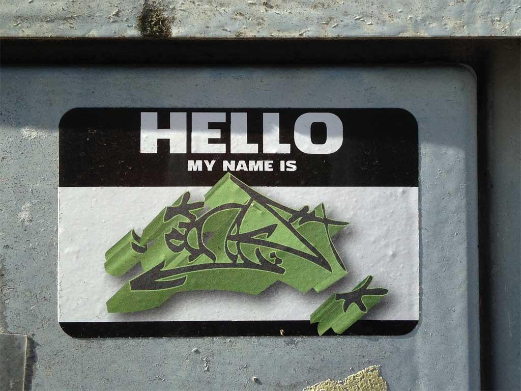 HELLO MY NAME IS - Aufkleber in Frankfurt